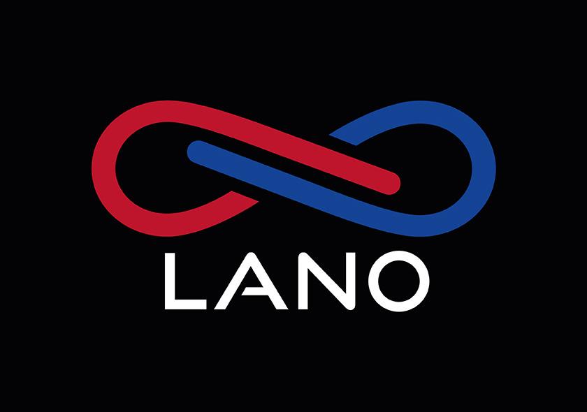 Logo LANO negativní